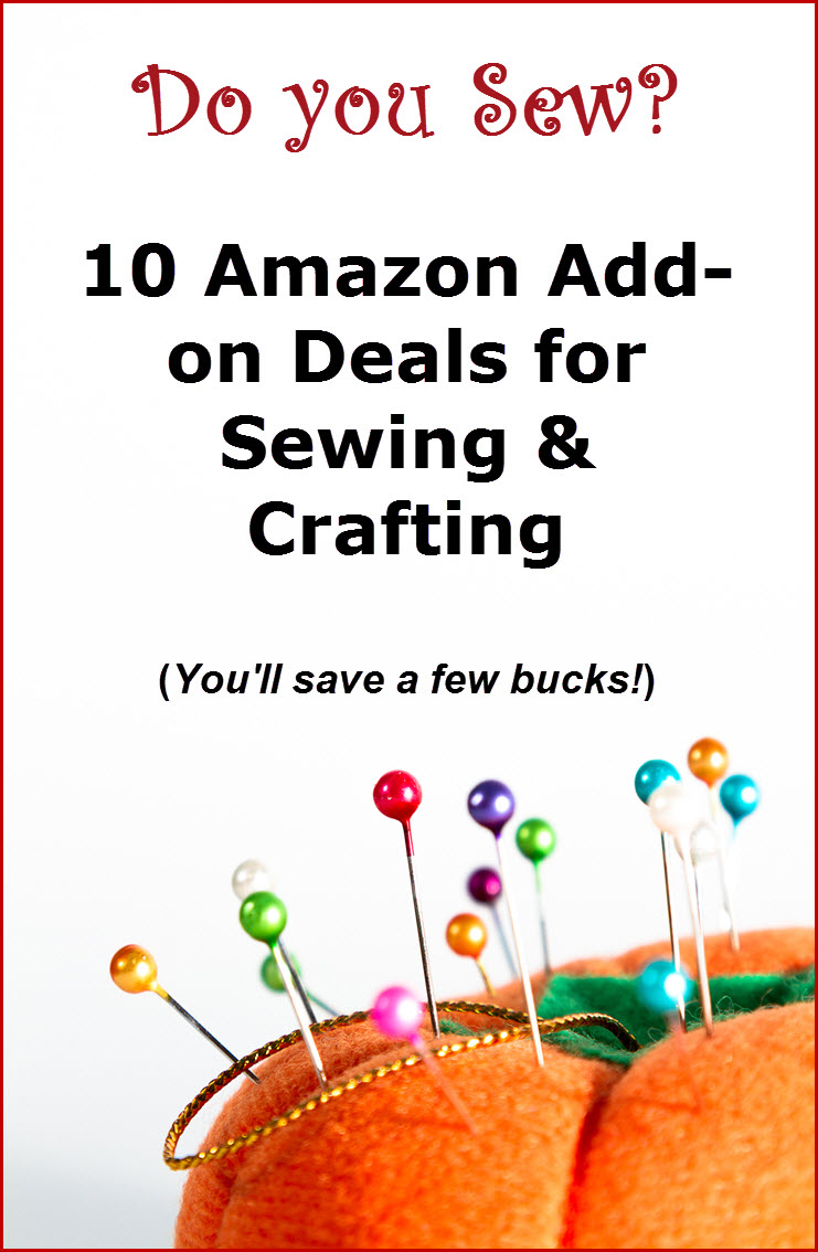 Amazon Add On Deals for Sewing