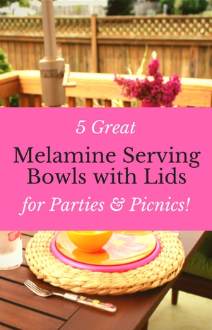 Melamine Mixing Bowls with Lids